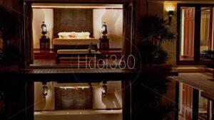 Intérieur de villa et atmosphère de nuit