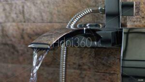 Photo de détail : robinet de baignoire