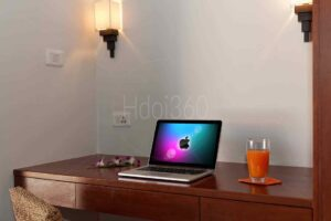 Photo de bureau avec macintosh