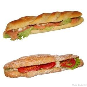 Sandwichs saumon et mozarella