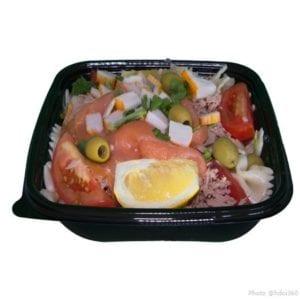 Photographie salade au saumon