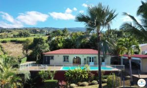 Drone maison avec piscine