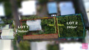 Drone découpage de parcelle à Saint-Pierre 974