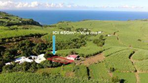 Photo drone de parcelle à vendre à Petite ile